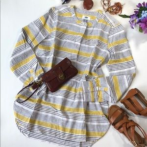 OLD NAVY LINEN STRIPED TUNIC SIZE XS